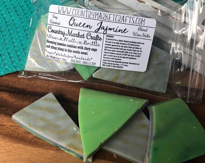Queen Jasmine Wax Melts Sex Bomb Type Wax Brittle Handmade Soy Vegan Highly Scented Wax Tarts Wax Melt-