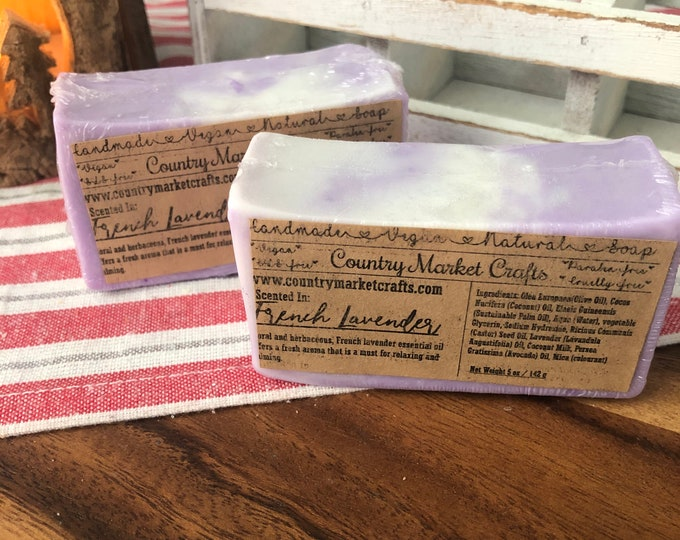 French Lavender - Natural Soap Handmade Soap Vegan Soap Fall Stocking Stuffer Christmas Gifts