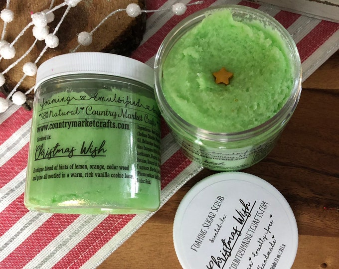 Christmas Wish - Christmas - Vegan Emulsified Sugar Scrub 10 oz