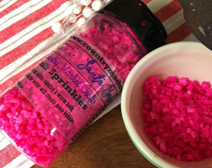 Santa Baby - Bubble Bath Sprinkles - Bubbling Salt Soak - Vegan Friendly Bubble Bath-