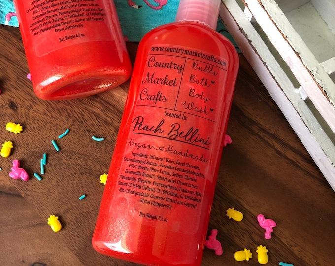 Peach Bellini - Liquid Bubble Bath Vegan Body Wash - 8.5 oz