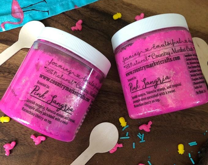 Pink Sangria - Vegan Emulsified Sugar Scrub 11 oz
