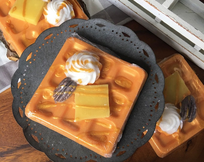 Pumpkin Pecan Waffles Soap - All Natural Soap Handmade Soap Vegan Soap Stocking Stuffer Christmas Gifts