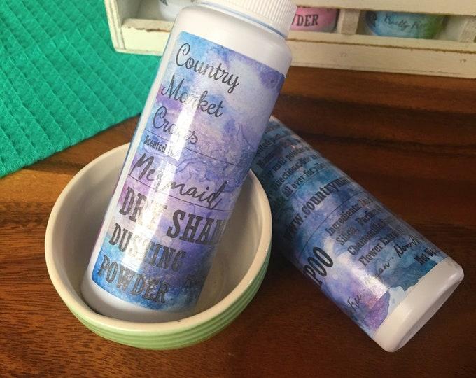 Dry Shampoo / Body Dusting Powder - Mermaid - Sage Citrus and Sea Salt Scent- Non - Aerosol - Cruelty Free Vegan  - Root Lift - Volumizing