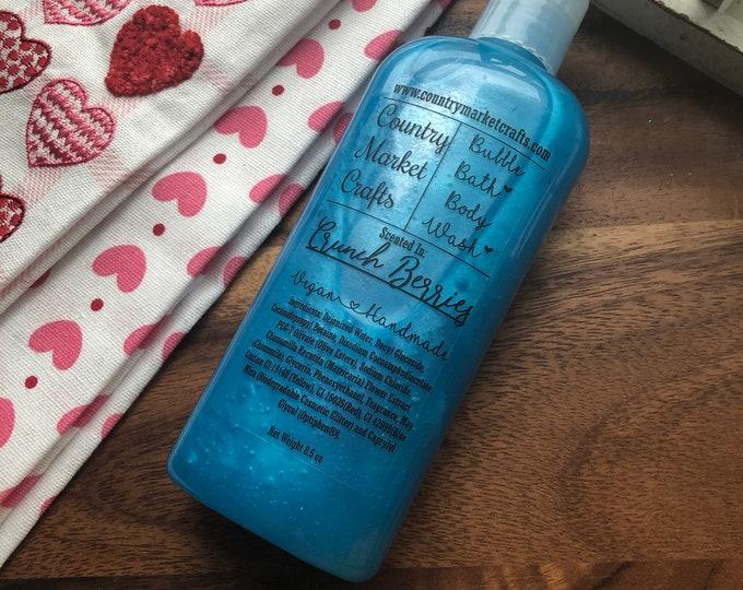 Rainbow Berry Crunch - Liquid Bubble Bath Vegan Body Wash - 8.5 oz
