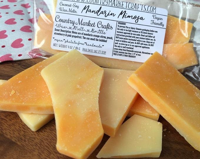 Mandarin Mimosa -  Handmade Soy Vegan Highly Scented Wax Tarts Wax Melt-