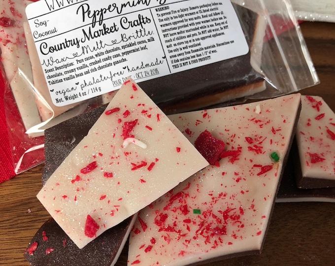 Peppermint Bark - Wax Tarts - Stocking Stuffer Wax Melts - Christmas Gift