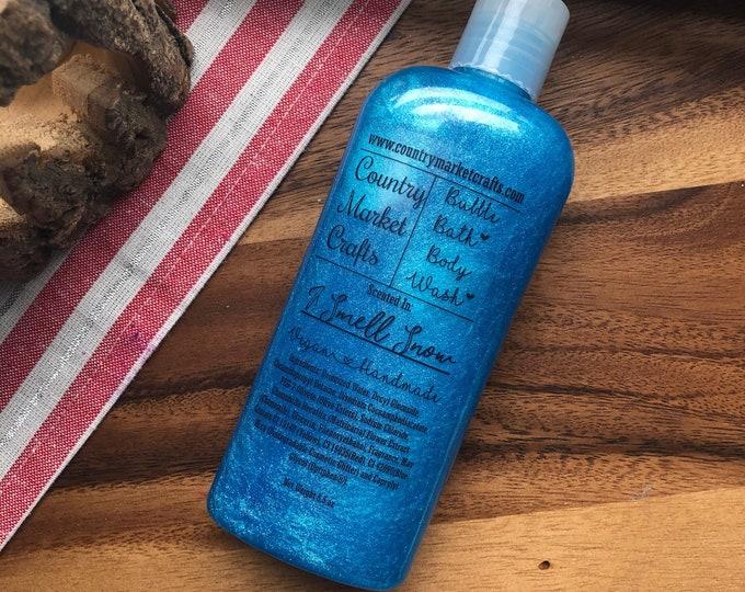 I Smell Snow -  Liquid Bubble Bath Vegan Body Wash - 8.5 oz