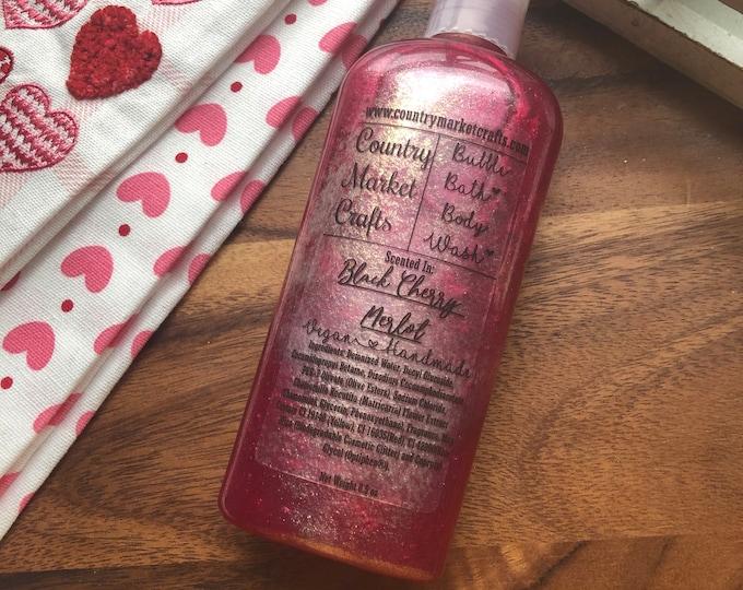Black Cherry Merlot - Liquid Bubble Bath Vegan Body Wash - 8.5 oz