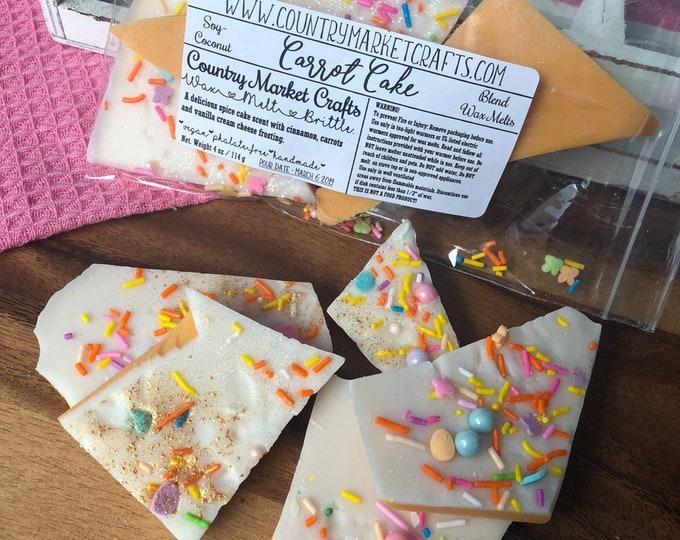 Carrot Cake Wax Melts Wax Brittle Handmade Soy Vegan Highly Scented Wax Tarts Wax Melt-
