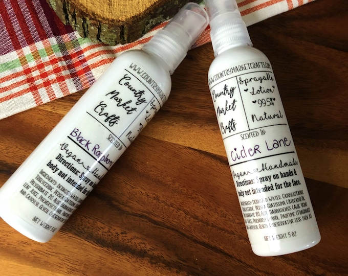 Scented Sprayable Lotion - You Choose Scent- Lotion Body Spray