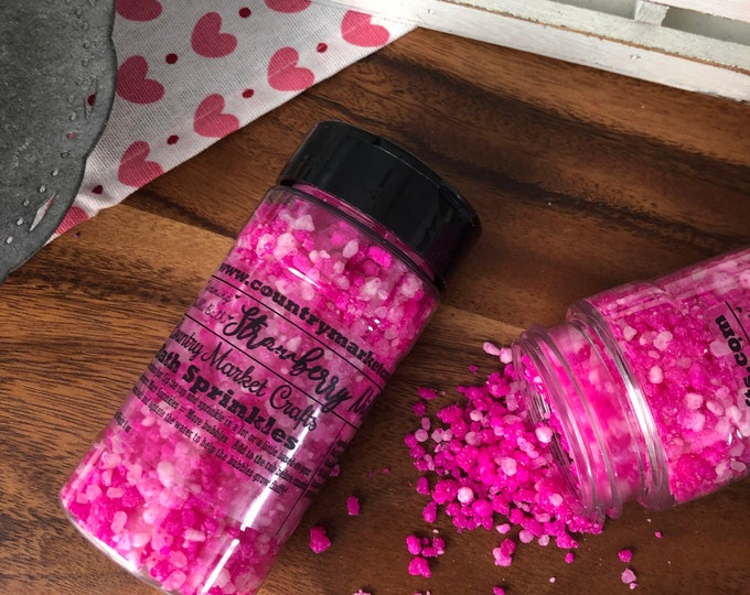 Strawberry Nilla - Bubble Bath Sprinkles - Bubbling Salt Soak - Vegan Friendly Bubble Bath- Vanilla Cream
