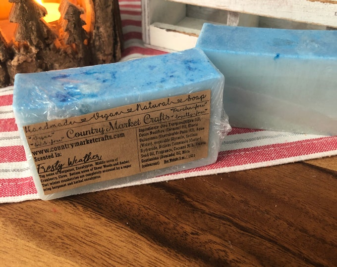 Frosty Weather - Natural Soap Handmade Soap Vegan Soap Fall Stocking Stuffer Christmas Gifts