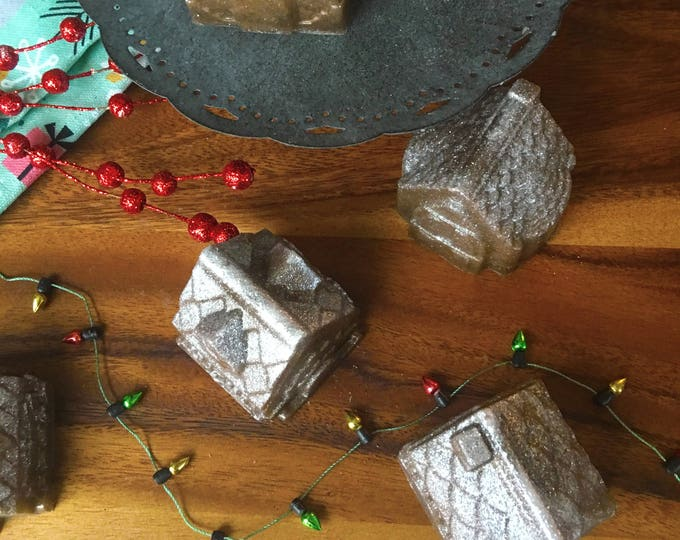 Frosted Gingerbread- Natural Soap Handmade Soap Vegan Soap Fall Stocking Stuffer Christmas Gifts