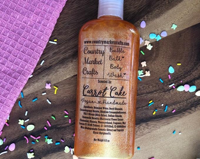 Carrot Cake Liquid Bubble Bath Vegan Body Wash - 8.5 oz -