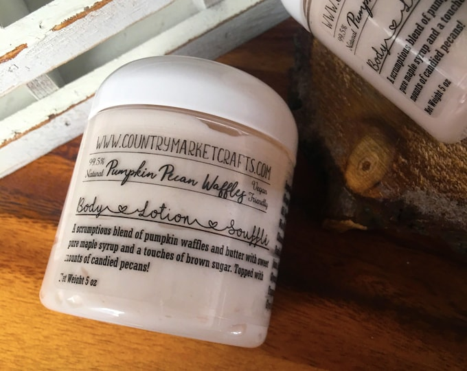 Pumpkin Pecan Waffles Soufflé Hand & Body Lotion Natural Handmade Fall