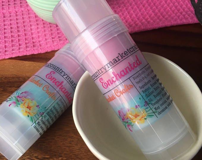 Solid Lotion Stick - Enchanted- Lotion Bar - Shimmer Skin Moisturizer-