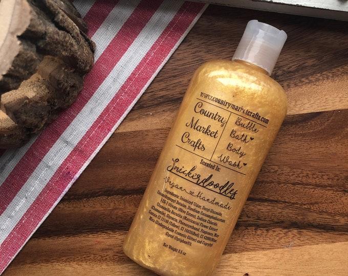 Snickerdoodle Cookies -  Liquid Bubble Bath Vegan Body Wash - 8.5 oz