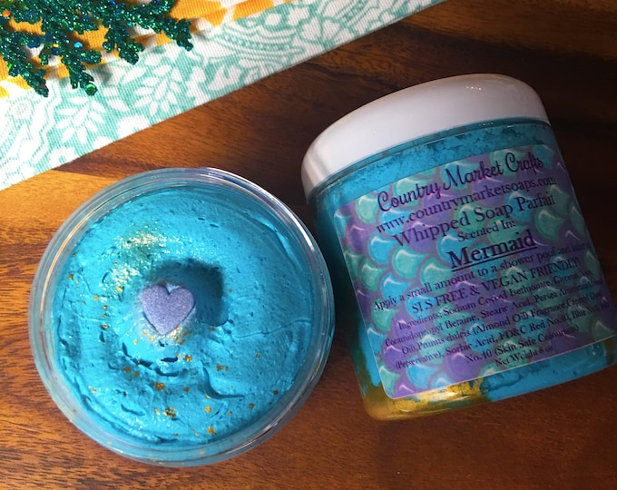 Mermaid Whipped Soap Parfait - Body Frosting  Christmas Gifts