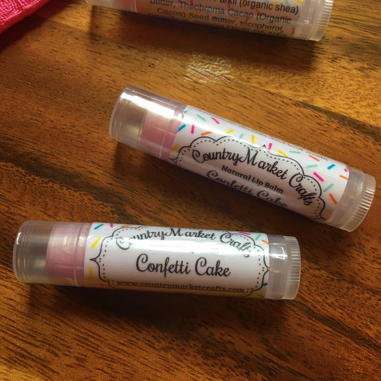 Confetti Cake Lip Balm Natural Bees Wax