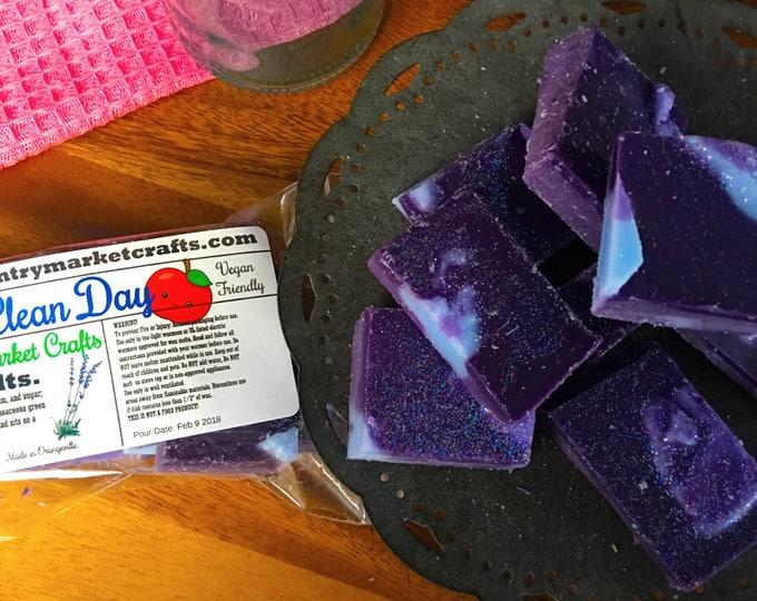 Clean Day - Lavender Apple -  Wax Melts Wax Chunks Wax Brittle Handmade Soy Vegan Highly Scented Wax Tarts -Wax Melt-