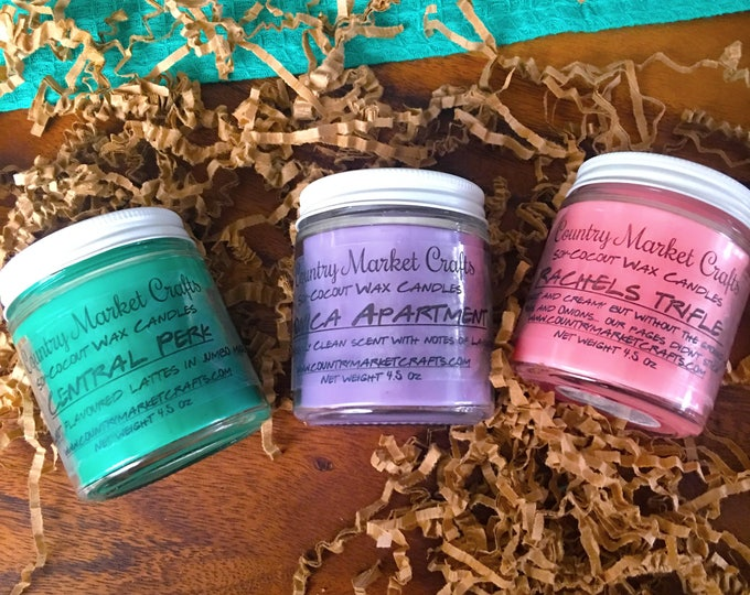 Friends Inspired Candle Set 3 Candles - Vegan Friendly - Coconut Soy Wax  Hunt-