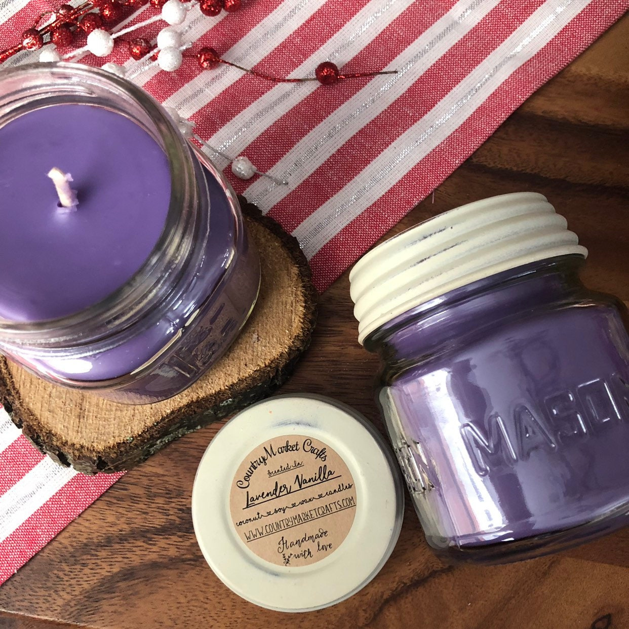 10 Oz Natural Soy Coconut Wax Candle