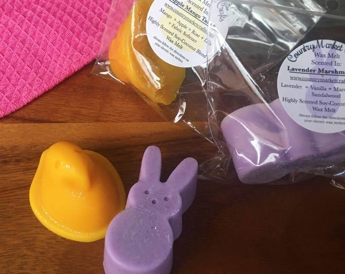 Wax Melt Duo Sampler Handmade Scented Lavender Marshmallow ans Apple Mango Tango - Vegan Highly Scented Wax Tarts Wax Melt - Easter Gift