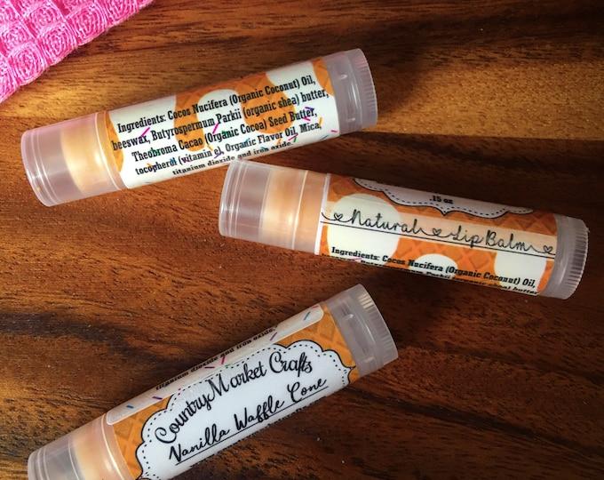 Vanilla Waffle Cone Lip Balm Natural Bees Wax Lip Balm