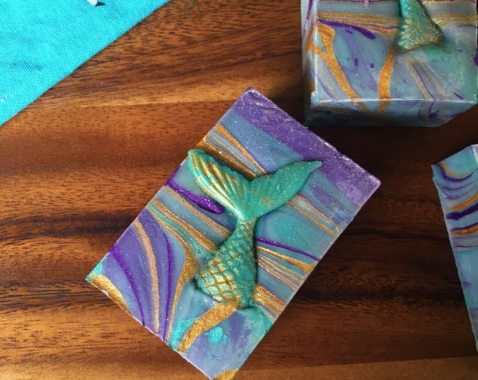 Mermaid  - All Natural Soap Handmade Soap Vegan Soap -