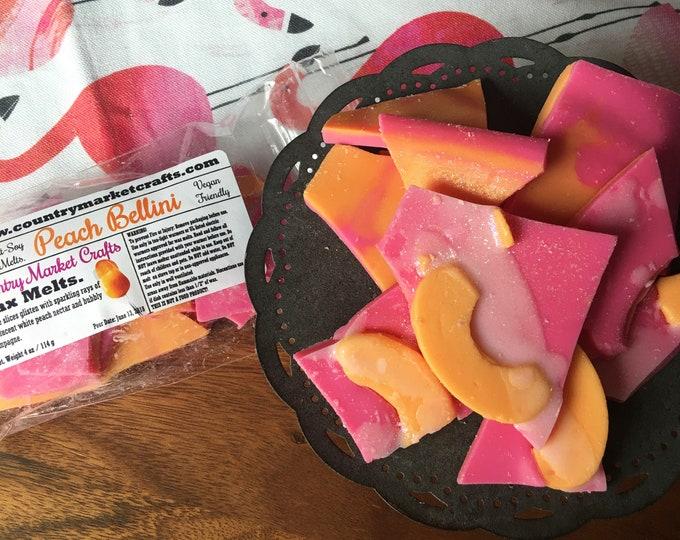 Peach Bellini -  Wax Melts Wax Chunks Wax Brittle Handmade Soy Vegan Highly Scented Wax Tarts -Wax Melt-