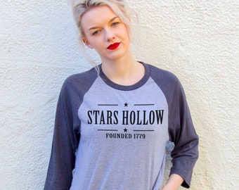 Stars Hollow, Gilmore Girls | Grey Baseball TShirt