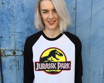 Vintage Style Jurassic Park Jersey/T-Shirt