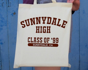 Buffy the Vampire Slayer Tote Bag | Sunnydale High Class of 99 Print