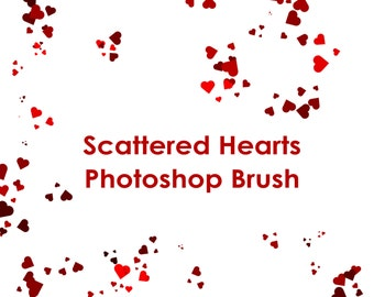 commercial use instant download confetti hearts photoshop gimp brush add on for adobe photoshop brushes abr