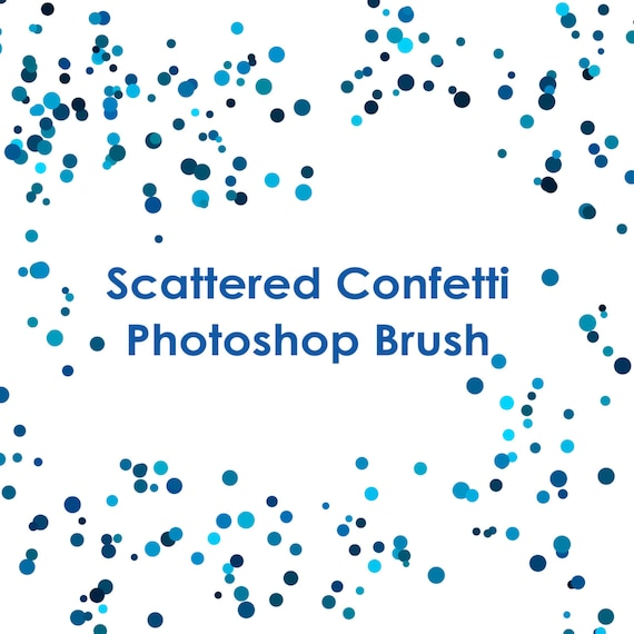 commercial use instant download round confetti photoshop gimp