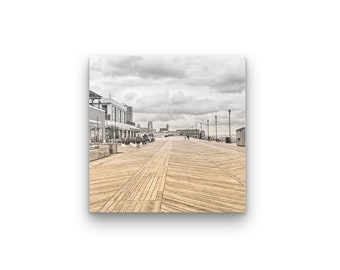 Asbury Park Boardwalk Print On Wood