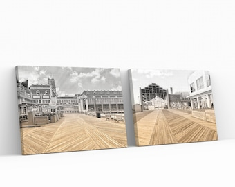 Asbury Park Dual Tone Series Two  Pack Prints On Canvas