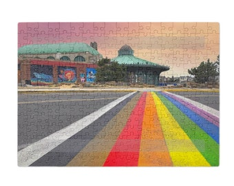 Puzzle & A Print: Rainbow Walkway