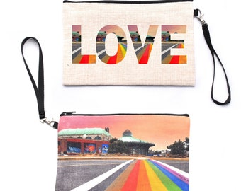 Rainbow Runway Wristlet