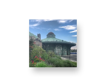 Asbury Park Carousel Print On Wood