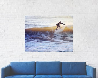 Surf Photography Print on Metal