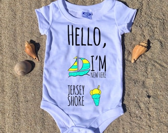 Hello, I'm new here! Jersey Shore Baby Onesie / 6 Month 12 Month