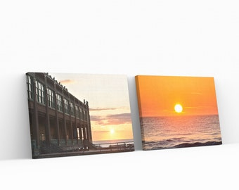 Convention Hall + Sunrise Two Pack Prints On Canvas