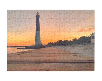 Puzzle & A Print : Barnegat Light House LBI
