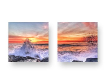 Splash! Two Panel Print On Wood
