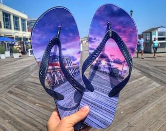 Asbury Park Boardwalk Flip Flops