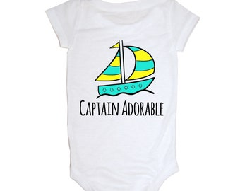Captain Adorable Infant Onesie, Beach Baby Onesie