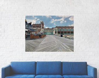 Conventional Hall Asbury Park Print on Metal