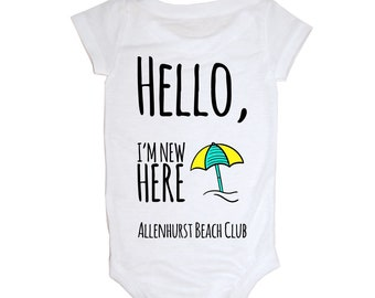 Hello, I'm new here! Allenhurst Beach Club Baby Onesie